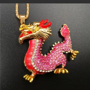Dragon pendant fashion unbranded necklace